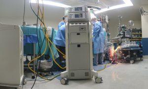 une salle d'opérations médicales